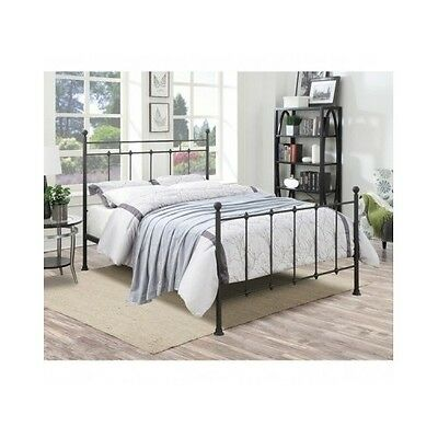 queen size bed frame metal headboard footboard folding poster bed antique rustic