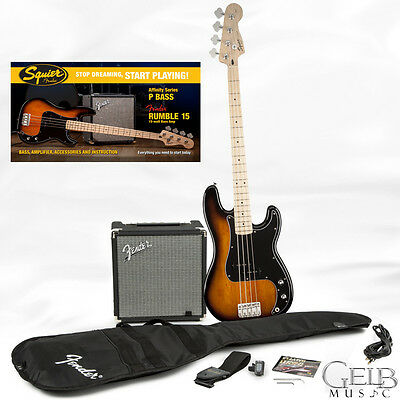 Squier Affinity Pack - Precision Electric Bass Brown & Rumble 15 Amp 0301672032