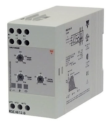Carlo Gavazzi RSE4812-B SOFT STARTER,12A, 480VAC, DIN MOUNT, US Authorized NEW