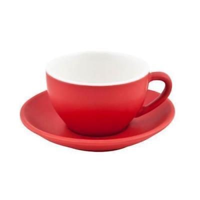 6x Large Cappuccino Cup & Saucer Set Rosso Red 280mL Bevande Coffee Cups Tea