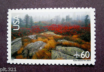 "Sc # C138 ~ 60 cent Arcadia National Park Issue , ""2001"" Date"