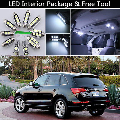 17PCS Error Free White LED Interior Lights Package kit Fit 2008-2013 Audi Q5 J1