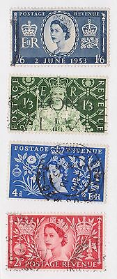 (GBN-40) 1952 GB 4set coronation 2½d to 1/6d (A)