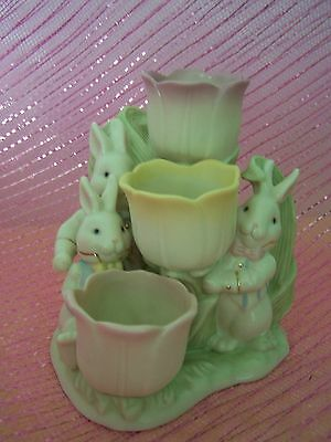 Lenox Occasions Tulip Tealight Holder Rabbits New In Box