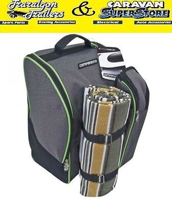 4 Person Cooler Picnic Set cutlery bag back pack esky 12 Litre with rug ACC136A