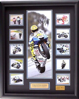 New Valentino Rossi Signed Limited Edition Memorabilia Framed