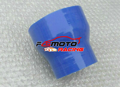 """Blue 2.5"""" to 3"""" inch Straight Silicone Hose Reducer Turbo 63-76mm Coulper pipe"""