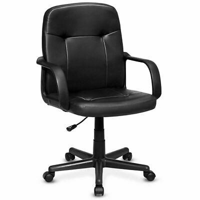 Ergonomic PU Leather Midback Executive Computer Best Desk Task Office Chair New