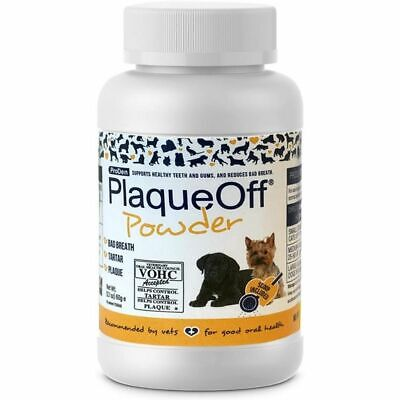 Plaque Off Tooth Powder for Dogs & Cats Bad Breath and Tartar Removal - 60g