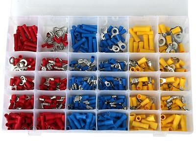 480Pcs Assorted Insulated Crimp Terminals Electrical Wire Connector Spade Set UK