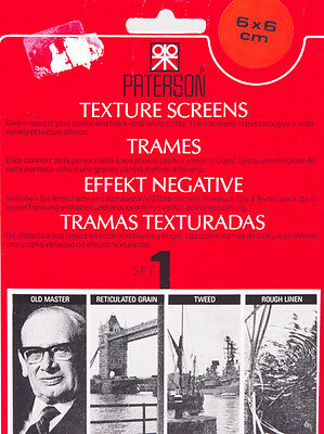 TRAMES PATERSON 6x6 SET n°1 - TEXTURES SCREENS PATERSON