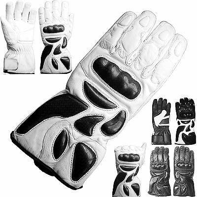 Motorbike Racing Waterproof Genuine Leather Motorcycle Carbon Knuckle Protection