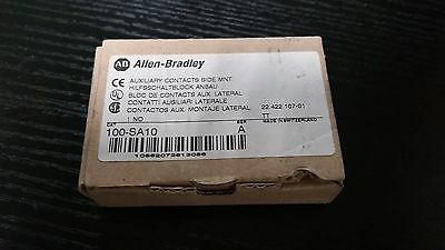 100-Sa10 Allen Bradley Auxiliary Contact Side Mount 100 Sa10 New In Box