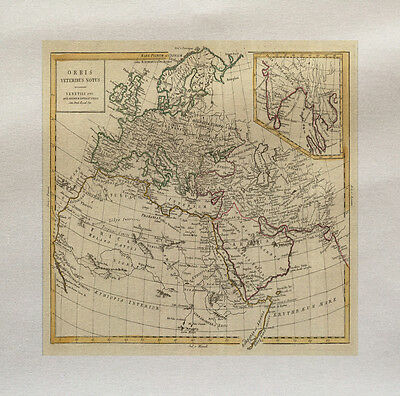 Italy Map Italian Printed On Fabric Panel Make A Cushion Upholstery Craft