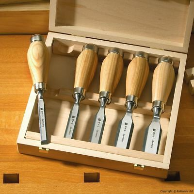 MHG Wood Chisels - Butt Chisels with Ash Handles - Set of 3