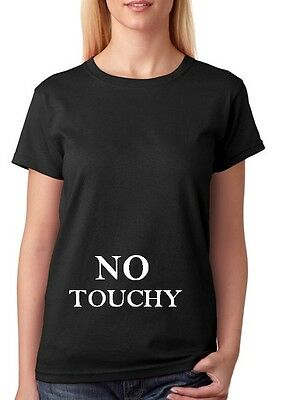 No Touchy T Shirt Maternity Pregnant Custom Baby Gift Funny Mum Clothing
