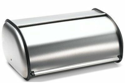 New Bread Box Large 2 Loaf Bin Storage Container Rolltop Kitchen Stainless Steel
