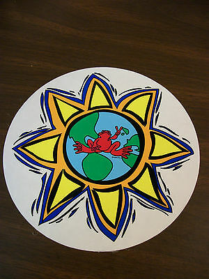 Peace Frogs Mother Earth Sticker