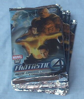 Upper Deck Fantastic 4 Movie Trading Cards Lot Of 50 Retail Packs New & Sealed