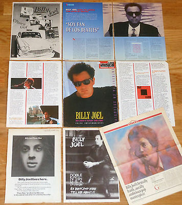 BILLY JOEL clippings 1970s/1990s magazine articles photos