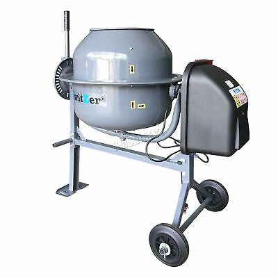 SwitZer 250W Electric Concrete Cement Mixer Mortar Plaster Machine 70L Drum