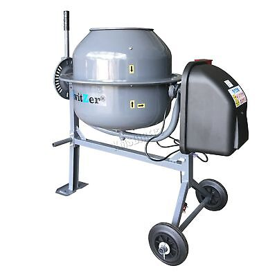 SwitZer 650W Electric Concrete Cement Mixer Mortar Plaster Machine 140L Drum