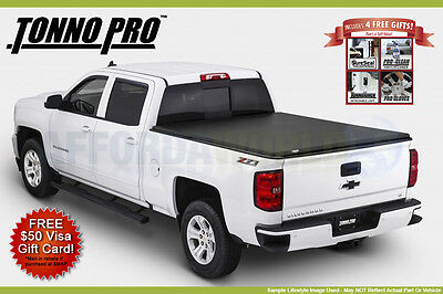 TRI-FOLD Tonneau Folding Bed Cover Tonno Pro 2015-2017 Ford F-150 6.6ft Bed