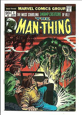 MAN-THING # 4 (The Making of a Madman, APR 1974), FN/VF