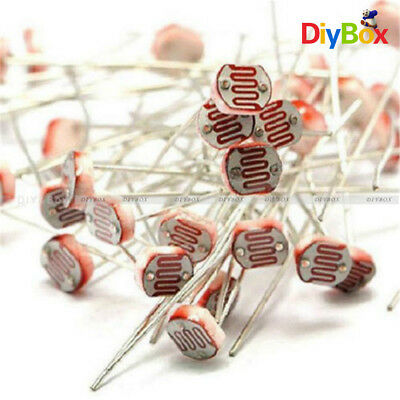 30PCS Photoresistor LDR CDS 5mm Light-Dependent Resistor Sensor GL5516 Arduino D