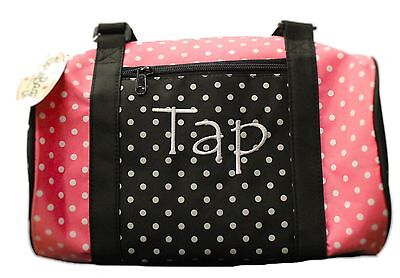 New Dance Bag Danshuz Dancin' Dots Tap Duffle Bag in pink and black