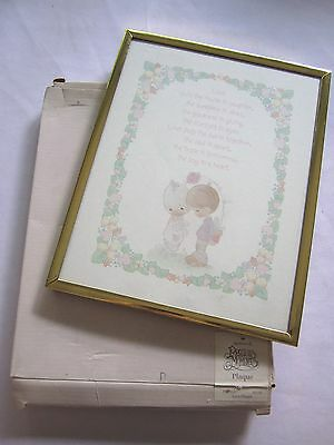 "Precious Moments Framed Wall or Desk Plaque- in Original Box - ""Love"""