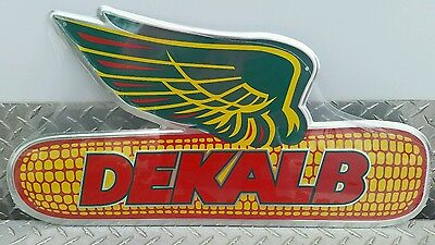 Dekalb Seed Corn aluminum One Sided Winged Ear Sign very colorful nice free ship