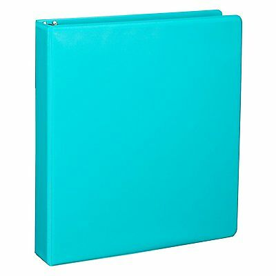 Samsill Durable Color 3 Ring Binder 1 Inch Round RingsTurquoise BINDERS U86377