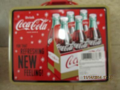 """Coca-Cola Tin Lunch Box """"For That  Refreshing NEW Feeling"""" - NEW"""