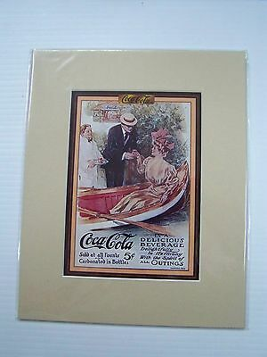 Coca-Cola Reproduction Matted Print - NEW  CC-6  FREE SHIPPING