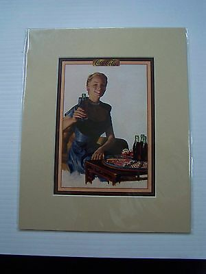 Coca-Cola Reproduction Matted Print - NEW  CC-25  FREE SHIPPING