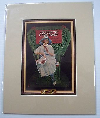 Coca-Cola Reproduction Matted Print - NEW  CC-1  FREE SHIPPING