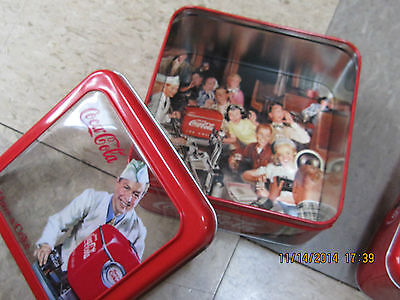 "Coca-Cola Tin Box Square Window ""Drink Coca-Cola in Bottles"" - NEW"
