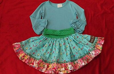 EEEUC Matilda Jane paint by numbers top and ice-cream skirt size 6