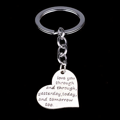 Fashion Heart Love You Keyring Keychain Key Chain Ring Fob Friends Lover Gifts