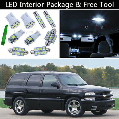 20pcs White Full Interior LED Lights Bulbs Package Fit for 2000-2006 Chevy Tahoe