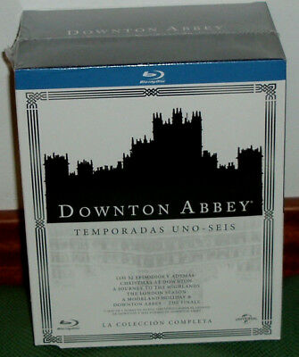 Downton Abbey-1-6 Temporadas-La Coleccion Completa-24 Blu-Ray-Nuevo-New-Sealed