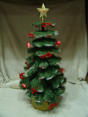 Older Musical Growing Christmas Tree Lighted Animated W/original Box