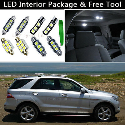 14PCS Error Free LED Interior Lights Package kit Fit Benz W163 M-Class ML350 J1