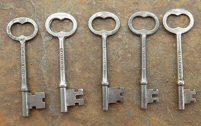 Five Rusell & Erwin Antique Mortise Lock Skeleton Keys  R & E  Antique Door Keys • CAD $31.45