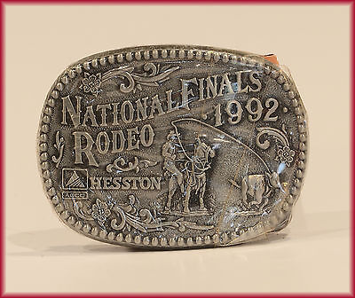 HESSTON BUCKLE 1992 Youth Small ***NFR*** NATIONAL FINALS RODEO   NEW!!!
