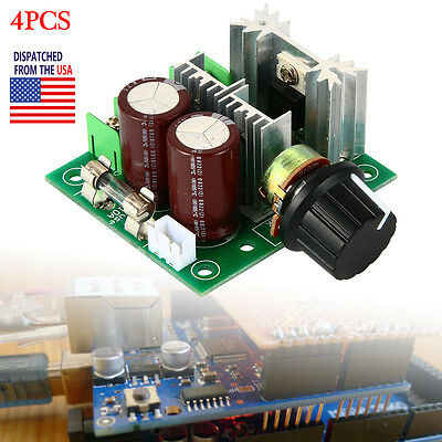 4pcs 10A 12-40V Pulse Width Modulation PWM DC Motor Speed Controller Switch NEW