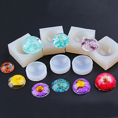 Clear Silicone Hemisphere Pendant Mold DIY Handmade Jewelry Resin Casting Mould