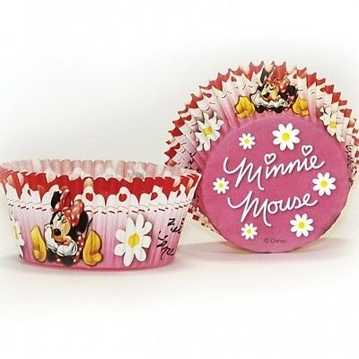 Minnie Mouse Red Polka Dot Party Cupcake Cases x 50. Shipping is Free