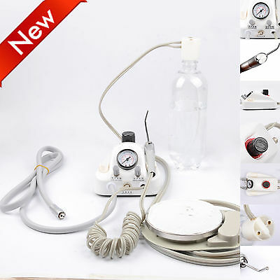 Dental Portable Air Turbine Unit for Compressor Handpiece 2Holes with Syring